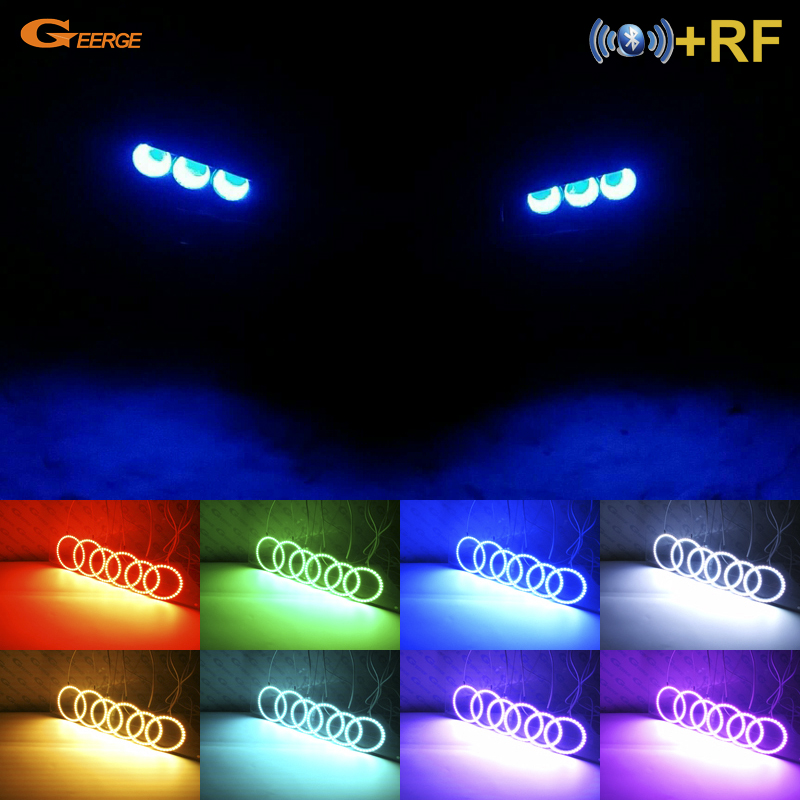 For Alfa Romeo 159 2005-2011 Utmerket RF Bluetooth-kontroller Multi-farger Ultralys RGB LED Angel Eyes Halo Ring-sett