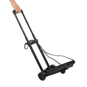 Image 4 - Promoção! portátil dobrável bagagem carrinho de compras 40kg liga de alumínio carro dobrável carrinho de bagagem viagem reboque doméstico luggag