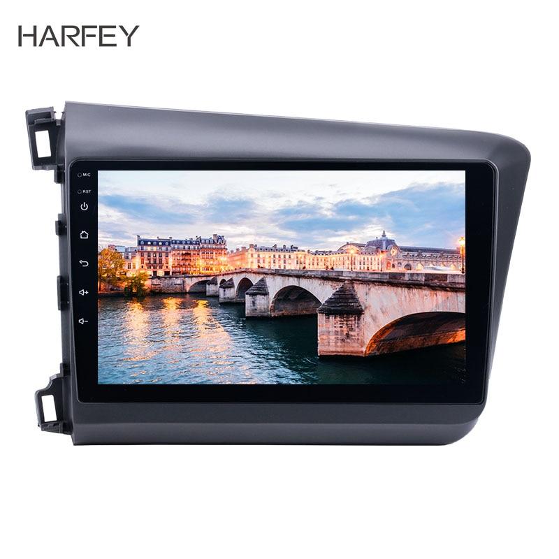 Harfey 10 1 Android 8 1 car multimedia player for 2012 Honda Civic Radio GPS navigation