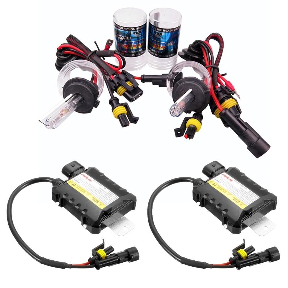 1SET Xenon H7 35W/55W Slim Ballast kit HID Xenon Headlight bulb 12V H1 H3  H11 h7 xenon hid kit 4300k 6000k Replace Halogen Lamp