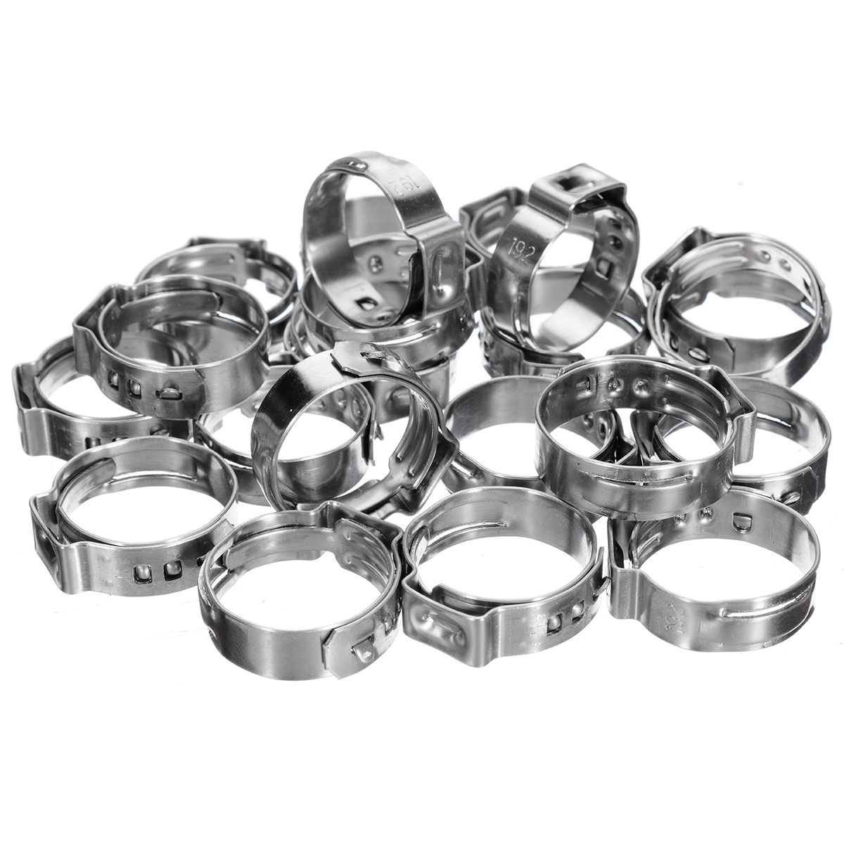180pcs kit Stainless Steel Single Ear Hose Clamp Hose Clamp Assortment Kit Ear Stepless Cinch Rings Crimp Pinch Fit 5 8 21mm in Clamps from Home Improvement