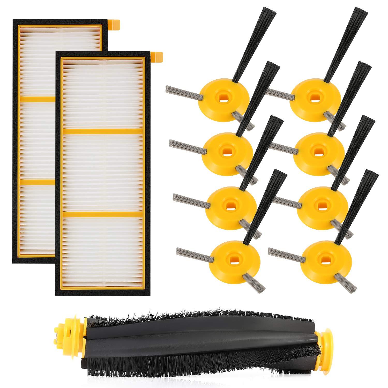 Rv755 Rv750c Design; 11 Pack In 1 Main Brushroll & 2 Filters & 8 Sid Novel Rv700 Replenishment Kit Compatible Shark Ion Robot Rv750 Rv720