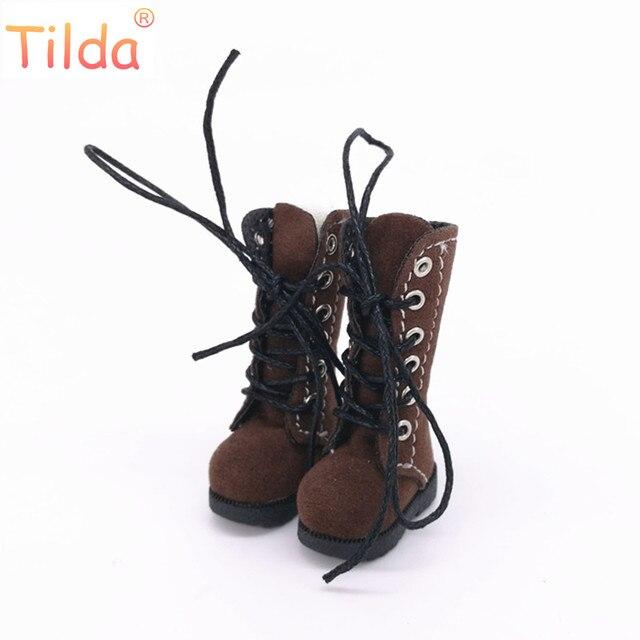 Tilda Boneca 3.2 centímetros Botas para Blythe Boneca de Brinquedo, 1/8 Mini Couro Sapatos para Blyth Azone Bonecas BJD, fantoche casuais Sapatos Acessórios