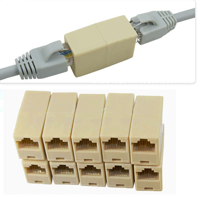 High Quality Sheet 10 On A Lan Rj45 Coupler Extending Connector Adapter Cable Rated 4.9 New