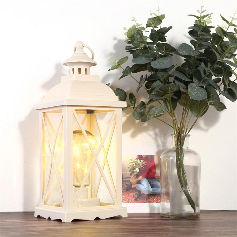 European Romantic Night Light Hurricane Lamp Led Night Indoor Wedding Atmosphere Lighting Christmas Candle Holders Decor Lamp