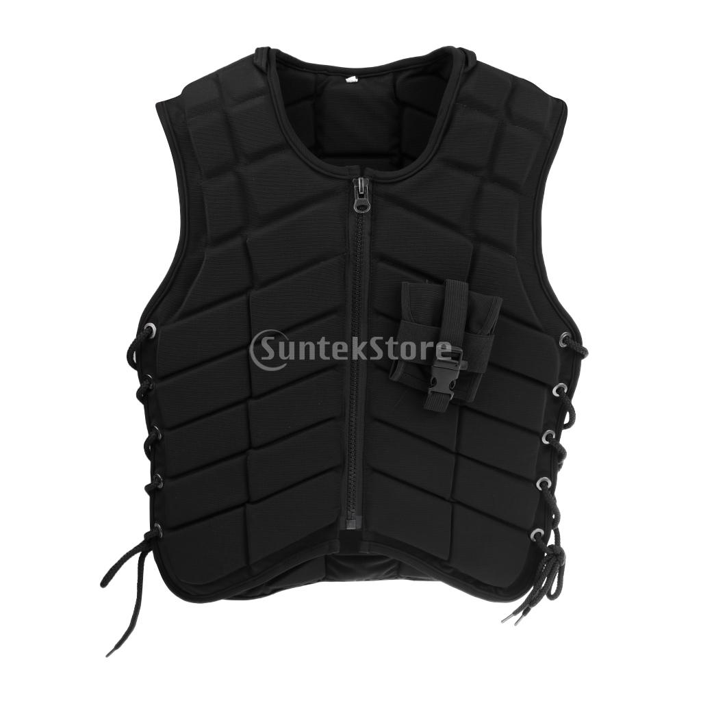 Women Equestrian Horse Riding Vest Safety EVA Padded Waistcoat Eventer Body Protector S/M safety equestrian horse riding vest protective body protector black adult sportswear camping hiking accessories shock absorption
