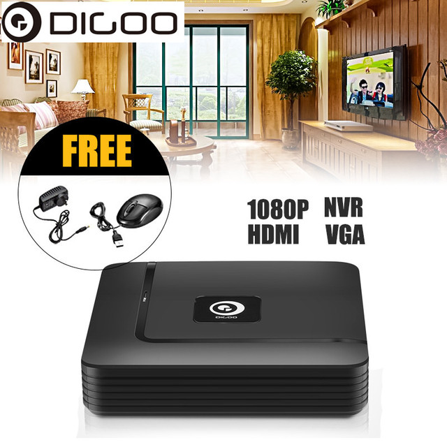 DIGOO DG-XME XME 8CH 1080P HDMI P2P Standalone ONVIF 2.5 NVR SurveillanceVideo Recorder For IP Camera Security System NVR