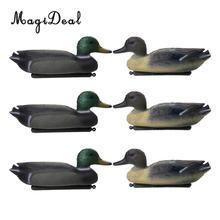 MagiDeal 6 шт. рыболовная охотничья Мужская приманка пластиковая утка приманка Дрейк w/плавающий Киль охотничья приманка для охоты рыболовный доступ