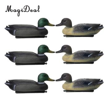 MagiDeal 6 Pcs Fishing Hunting Male Decoy Plastic Duck Decoy Drake w/ Floating Keel Hunting Decoy for Hunting Fishing Access hunting gadwall duck decoy electric flying duck motorized duck decoy with remote control