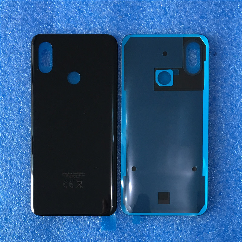 """Image 2 - Original For 6.21"""" Xiaomi 8 Mi8 MI 8 Axisinternational 3D Glass Back Battery Cover Case+Silver Camera Frame For MI8 Rear Housing-in Mobile Phone Housings & Frames from Cellphones & Telecommunications on"""