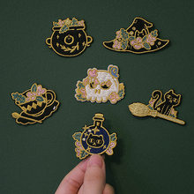 Witch Magic Embroidery Patch Iron On Patches For Clothes Applique Stickers for Book Cartoon Bag/hat Patch SC4554(China)