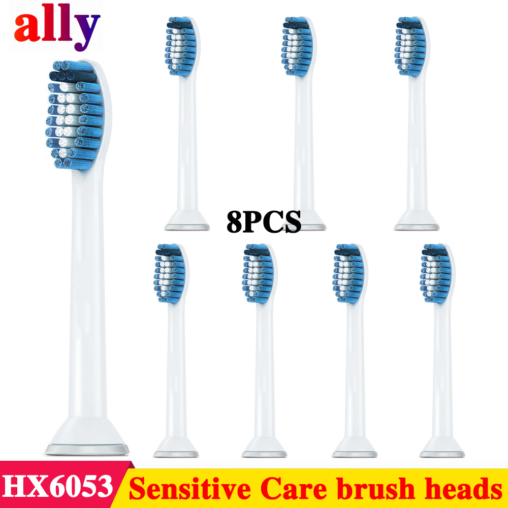 8pcs Replacement electric Toothbrush Heads for Philips Sonicare Sensitive Standard Size Toothbrush <font><b>HX6054</b></font> HX6053 HX6730 HX6512 image