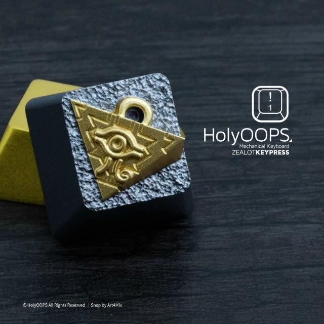 1 pièce Holyoops 3D en alliage d'aluminium mécanique clavier clé Cap pour YuGiOh Millenium Puzzle anodique oxyde Keycap
