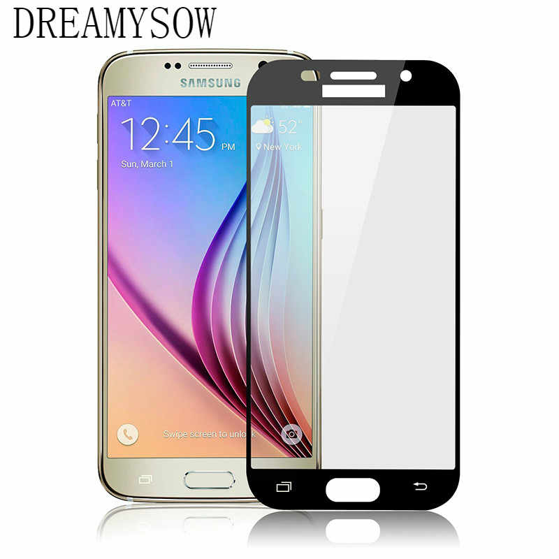 Full Cover Screen Protector For Samsung Galaxy A750 A7 2018 A5 A7 A3 2017 A520F A320F A720F Tempered Glass Case Protective Film