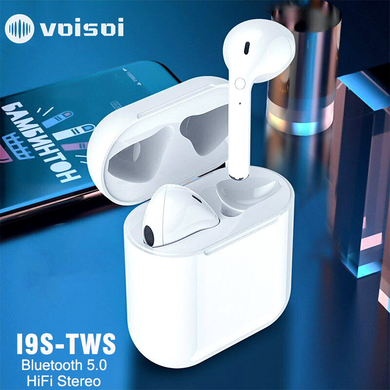 New i9S TWS Mini Bluetooth Earphones Stereo Earphone Wireless Earbuds Headsets Wireless For iphone Android-in Bluetooth Earphones & Headphones from Consumer Electronics