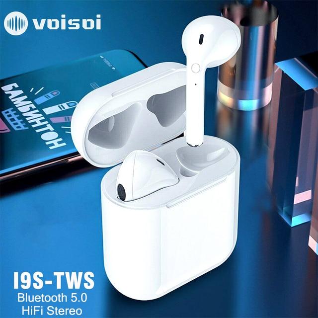 새로운 i9s tws 미니 블루투스 이어폰 스테레오 이어폰 무선 이어폰 헤드셋 아이폰 안드로이드에 대한 무선