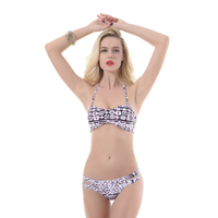 PREETEE 2018 New Sexy Push Up Swimwear Women Retro Vintage hang High neck Bikini Set Beach Plus Size Bathing Suits Swimsuit