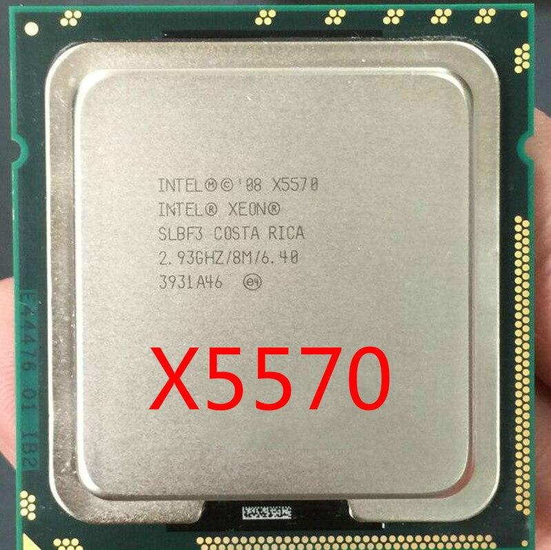 Intel xeon X5570 LGA1366 95W (pamięć podręczna 8 M, 2.93 GHz, 6.40 GT/s Intel QPI) procesor czterordzeniowy x5570