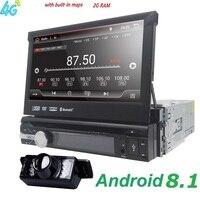 1din автомобильный радиоприемник андроид мультимедийный проигрыватель Авторадио 1 Din 7 ''сенсорный экран gps Bluetooth FM wifi авто аудио плеер стерео м