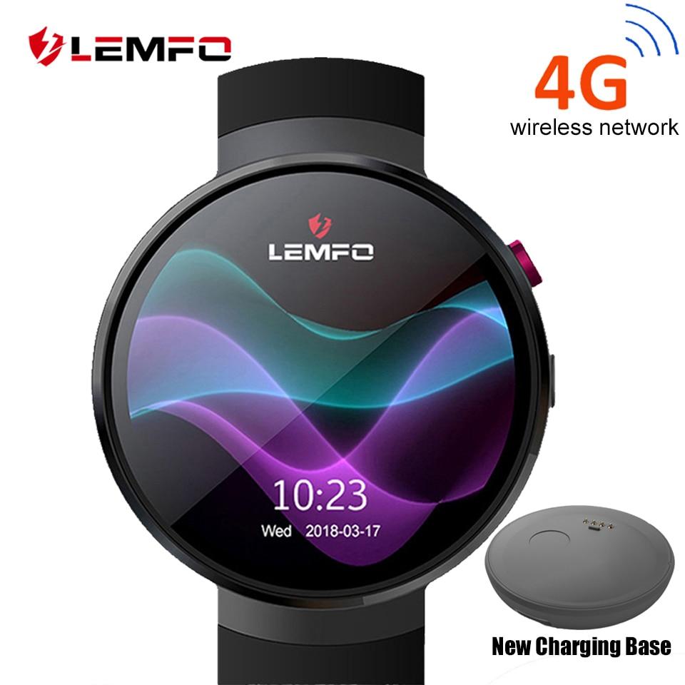 LEMFO LEM7 Astuto Della Vigilanza del Android 7.0 LTE 4g Sim 2MP Macchina Fotografica di WIFI GPS Frequenza Cardiaca 1 gb + 16 gb di Memoria con la Macchina Fotografica Smartwatch per Gli Uomini
