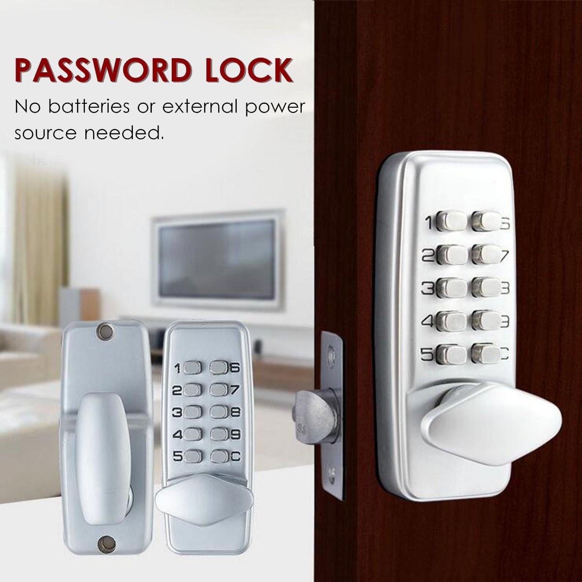 Zielsetzung Keyless Mechanische Türschloss Sicherheit Password Lock Digitale Code Eintrag Außen Mechanismus Access Control Lock Zubehör SchöN Und Charmant Zugangskontrolle