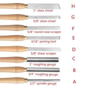 Image 3 - High Speed Stahl Drehmaschine Meißel Holz Drehen Werkzeug mit Holz Griff Holzbearbeitung Werkzeug