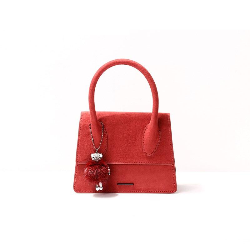 2019 새로운 제품 나열 패션 핸드백 트렌드 여성 가방 스웨이드 가방-에서탑 핸드백부터 수화물 & 가방 의  그룹 3