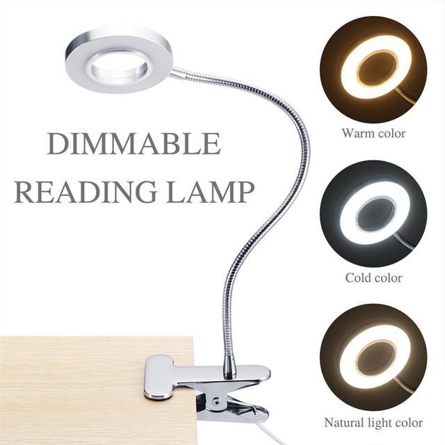 קליפ מנורת שולחן LED שולחן מנורת קעקוע אור נייד קבוע גבות מניקור אור USB יופי כלים ציפורניים איפור מיטה שימוש