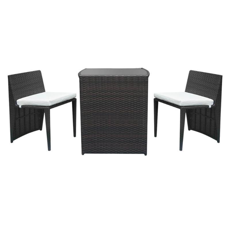 Rattan Sofa Chair 2pcs Chairs + 1 Bar Table Cafe Dessert Shop Outdoor Garden Leisure Funiture Kit Home Decoration