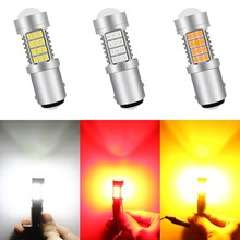 1 Piece 1156 1157 3156 3157 7440 7443 BAY15D 54 SMD 2835 LED Wedge Car Turn Led Signal Lamp Light Reverse Parking Lamp Bulb 2x car led 1156 p21w ba15s 1157 3156 3157 7440 7443 led bulbs turn signal brake light reverse lamp 1206 22 smd auto tail lights