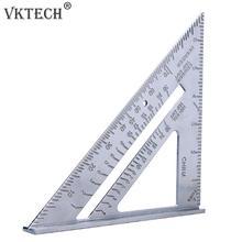 أداة قياس بزاوية مثلثة مربعة الشكل من الألمونيوم مقاس 7 بوصة متعددة الوظائف لقياس زاوية المنقلة