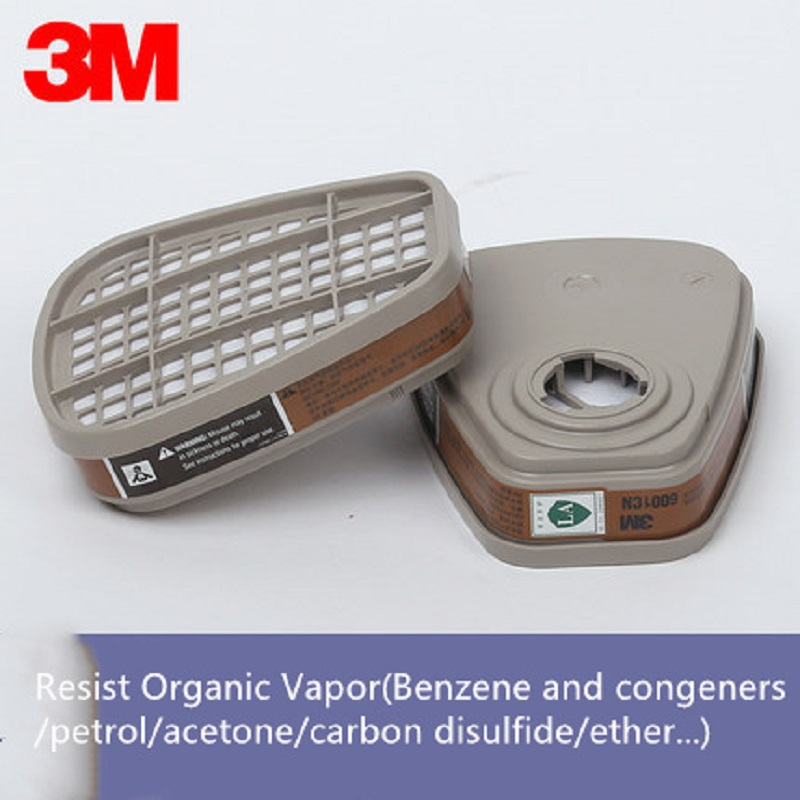 1/2/4/5 Pairs 3M 6001 Gas Mask Filter Organic Vapor Respirator Filter Cartridges Assemble 3M 7502 6200 Respirator Weld Paint