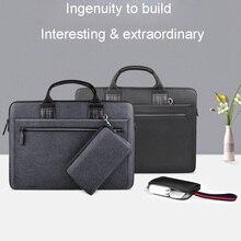 Bolsa para notebook wiwu, capa portátil para macbook air 13 pro 13 15 16 notebook 14 polegadas saco impermeável de nylon para laptop 15.6,
