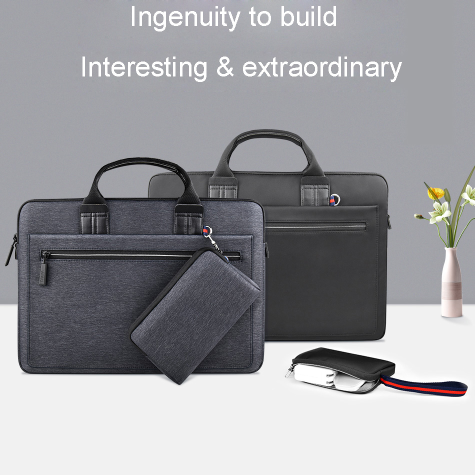 WIWU Laptop Bag Case for MacBook Air 13 Case Pro 13 15 16 Women Men <font><b>Pouch</b></font> <font><b>Notebook</b></font> Bag 14 inch Nylon Waterproof Laptop Bag <font><b>15.6</b></font> image