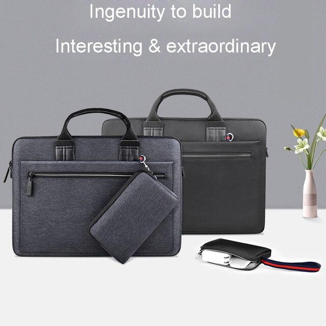 WIWU laptop çantası macbook çantası hava 13 durumda Pro 13 15 16 kadın erkek çantası dizüstü bilgisayar çantası 14 inç naylon su geçirmez laptop çantası 15.6