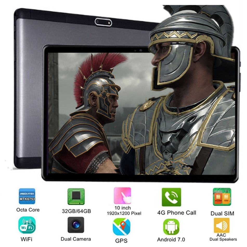 New Google Play Android 7 0 OS 10 inch tablet Octa Core 32 64GB 1920 1200