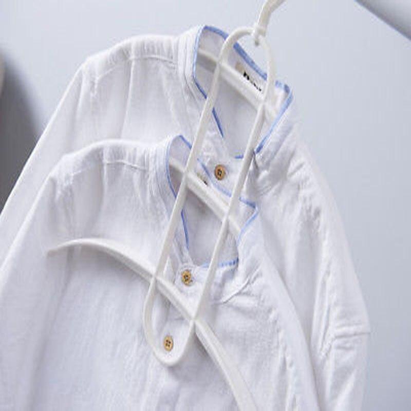 Абсолютно стиль многофункциональная трехслойная вешалка для хранения куртки пальто одежда Твердые пластиковые вешалки