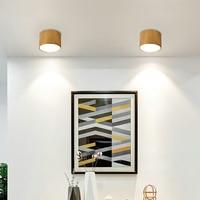 Artpad Nordic Style LED Ceiling Down Light Wood Round Office Hotel Aisle Hallway Balcony 9W/12W/15W/18W Downlight Spot light