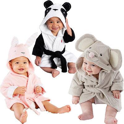 Newest Baby Girls Boys Kids Sleepwear Sleep Robes Animal Cute Plush Winter Warm Night Gown Pajamas