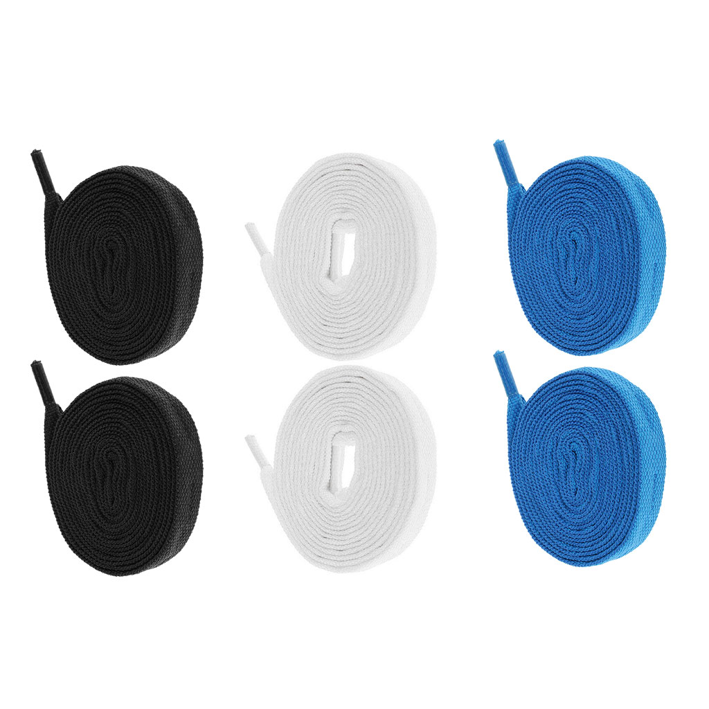 3 Pairs Nylon Skate Laces For Roller Skates Ice Skating Shoes Decoration Strings