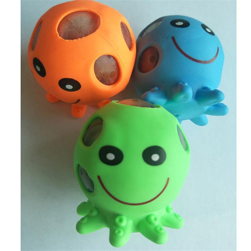 Mini Decompression Animal Toy Pinch Animal Dinosaur Grape Detonating Beads Squeeze Vent Cartoon Toys - Random Colors