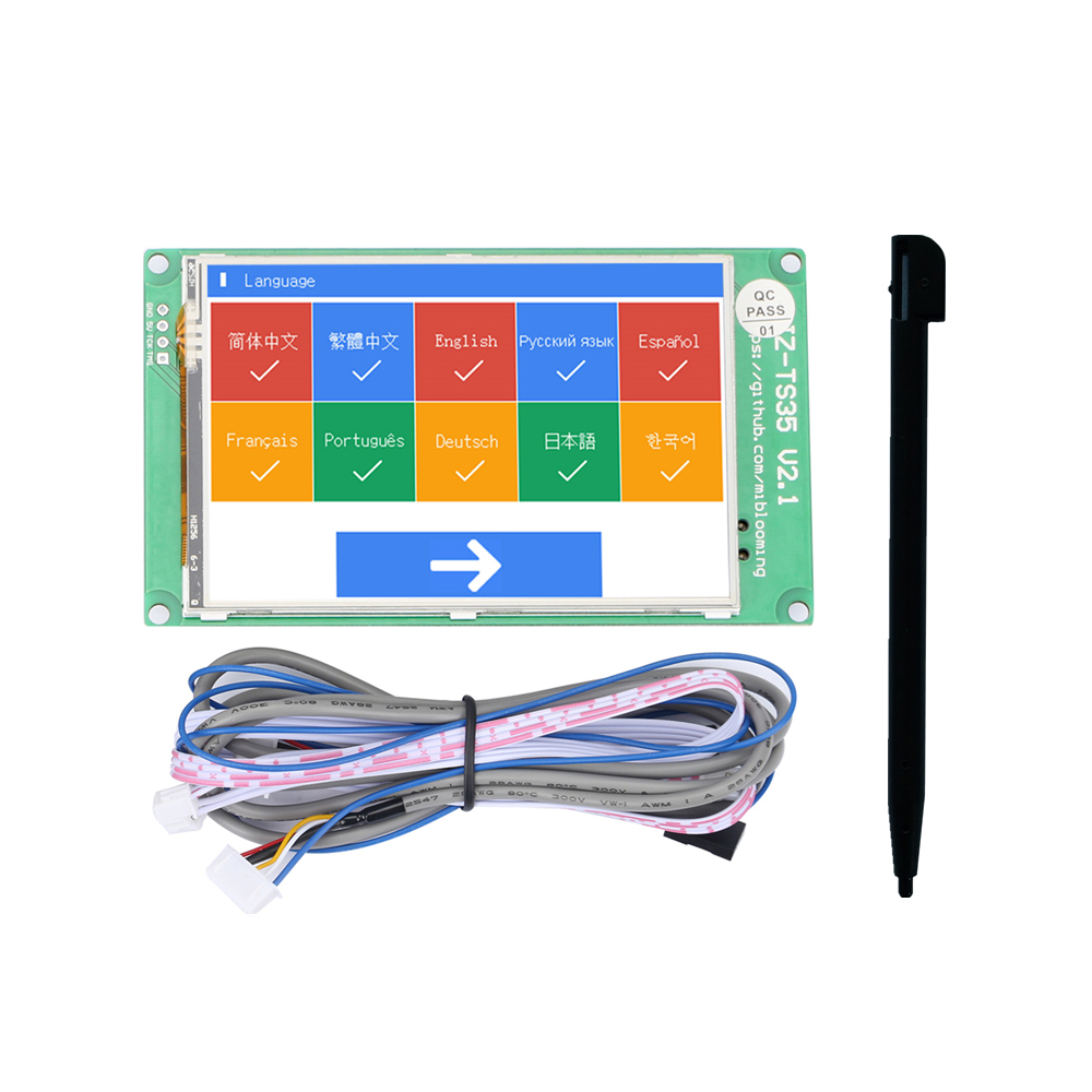 Jz-Ts35 3.5-Inch Touch Screen Display Board Compatible With Ramps1.4 Mega2560 Marlin 3D Printer AccessoriesJz-Ts35 3.5-Inch Touch Screen Display Board Compatible With Ramps1.4 Mega2560 Marlin 3D Printer Accessories