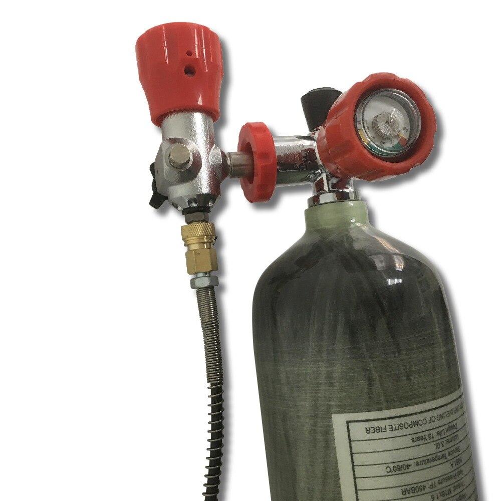 Acecare 3L Réservoir De Carbone/Paintball Réservoir D'air appareil respiratoire 3L 4500 Psi Comprimé Air Carbon fibre SCBA Air Réservoir AC103101
