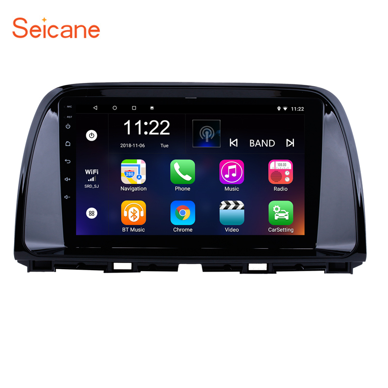 Seicane 9 inch <font><b>Android</b></font> 8.1/9.0 Quad Core for 2012-2015 <font><b>Mazda</b></font> <font><b>CX</b></font>-<font><b>5</b></font> 1024*600 Car GPS <font><b>Radio</b></font> Stereo Player with WIFI Bluetooth FM image