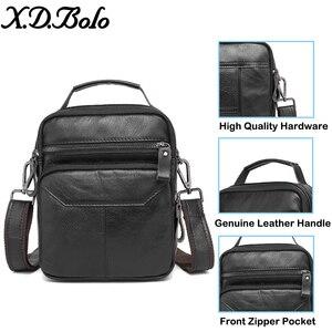 Image 4 - XDBOLO 2020 Bag Leather Shoulder Bag Single Strap Messenger Bag Solid Crossbody Bag for Mens Wholesale