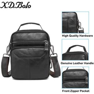 Image 4 - Xdbolo 2020 bolsa de ombro de couro única alça mensageiro saco sólido crossbody saco para homens atacado