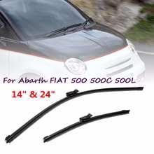 """1""""& 24"""" для Abarth для FIAT 500 500C 500L 2008 2009 2010 2011 2012 2013 автомобильный кнопочный фитинг стеклоочистителей ветрового стекла"""