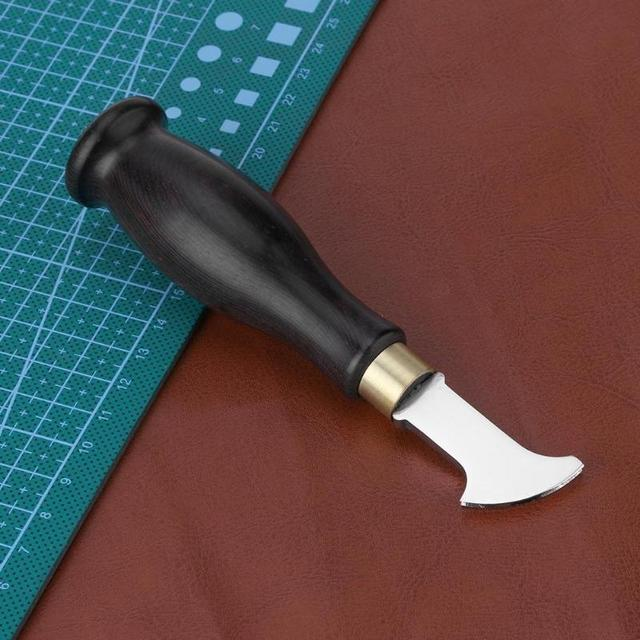 Ebony Handle Leather Edge Creaser Leathercraft Marking Edge Decorate Line Tool Stainless Steel Blade Shallow Groove Press Line
