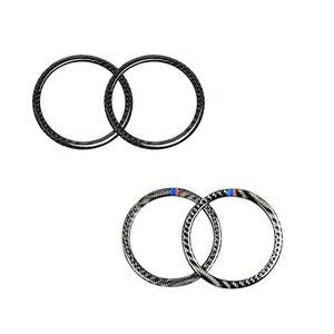 Image 1 - For BMW 3 Series E90 2005 2006 2007 2008 2009 2010 2011 2012 X1 E84 2pcs Carbon Fiber Car Door Speaker Ring Loudspeaker Cover