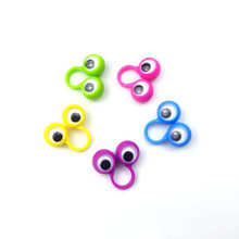 iWish 34mm Google Eye Puppe Plastic Rings with Wiggle Eyes Finger Spies For Birthday Party Kids Gags N Practical Jokes Gift Toys